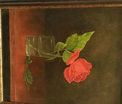 Still life painting of a rose