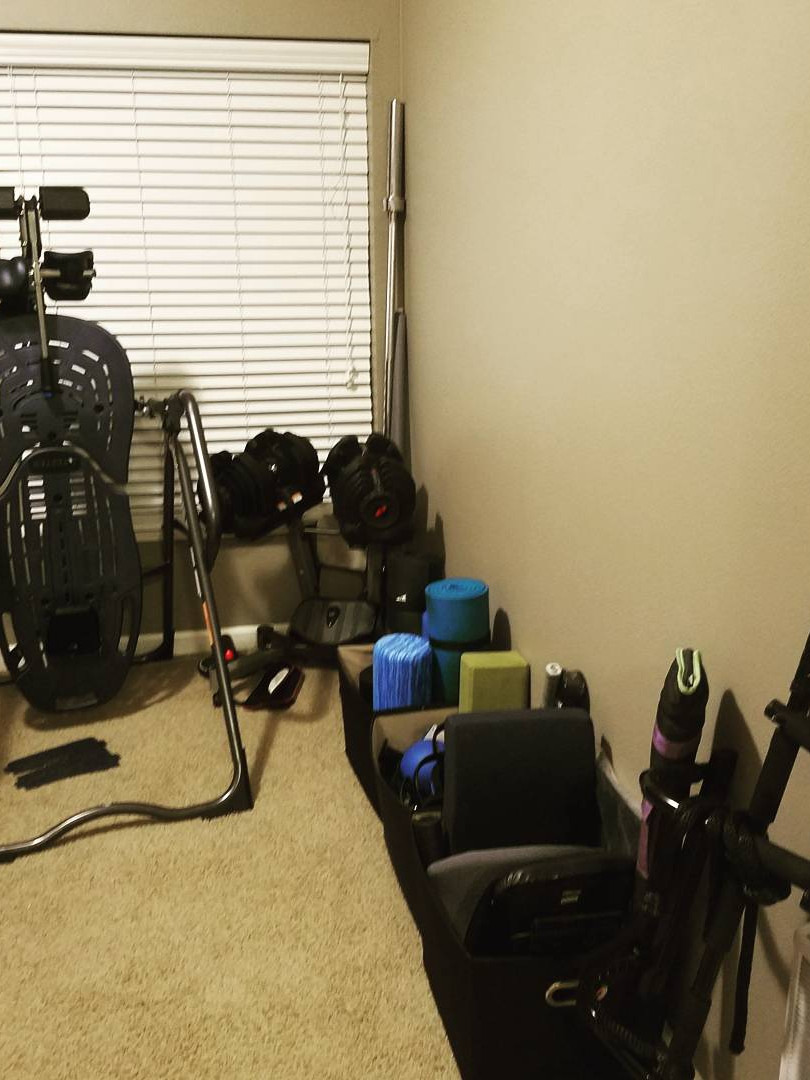 Home Gym unpacked and ready to rock!