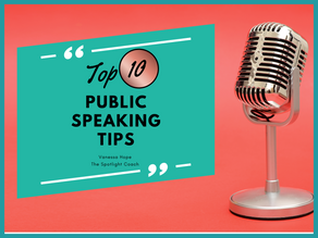 My Top 10 Public Speaking Tips