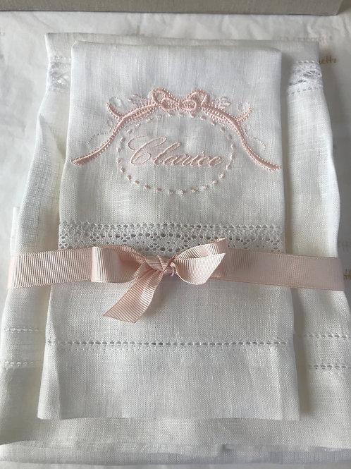 Toalha de cambraia - off white