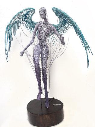 """Ángel onírico"" Wire Sculpture - O. Rivera"
