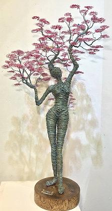 """Cerezo Encantado"" Wire Sculpture - O. Rivera"