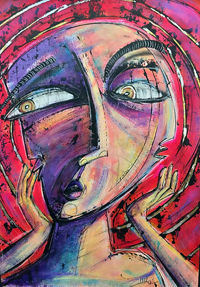"""Sorprendido"" - Gastón Charó / Expressionism"