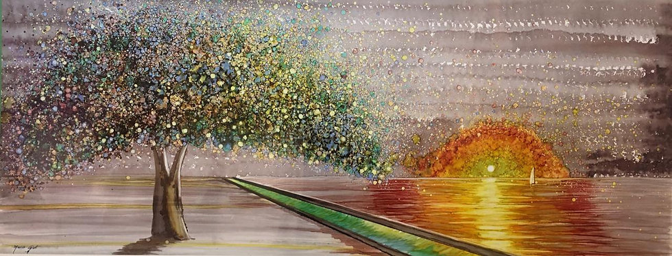 """Nature"" - M.Pat /Original Painting on paper"