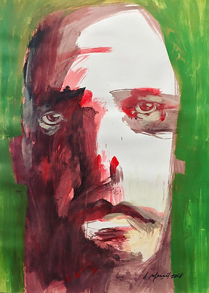 """Uncertainty of Existence"" - A. Massot - Portrait / Expressionism"