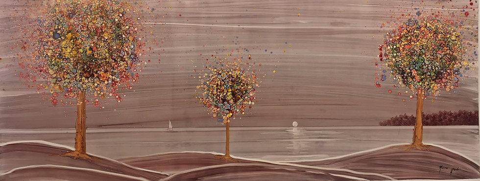 """""""a quiet place"""" - M.Pat /Original Painting on paper"""