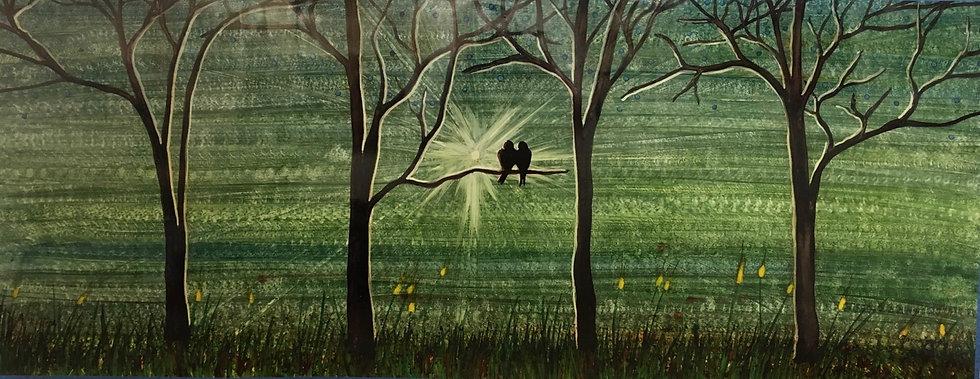 """""""Destello"""" - M.Pat /Original Painting on paper"""