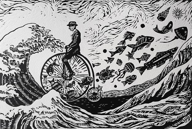 """""""De frente a la ola"""" M. Pallares"""