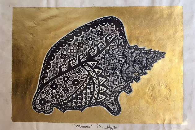 Engraving on lino / Amate paper