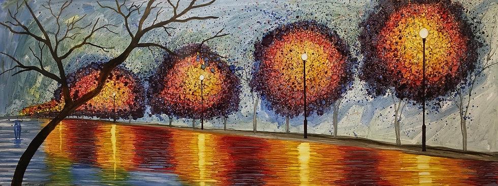 """Petricor"" - M.Pat /Original Painting on paper"
