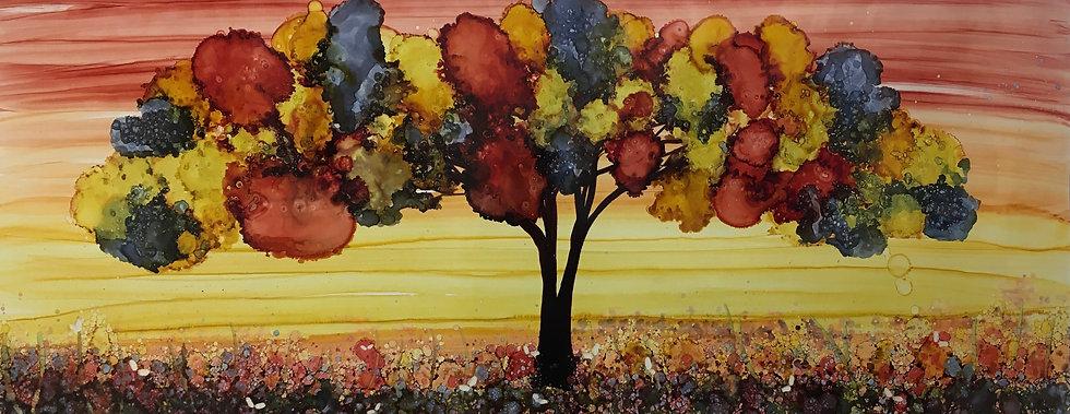 """Perenne"" - M.Pat /Original Painting on paper"