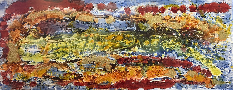 """""""Abstract"""" - M.Pat /Original Painting on paper"""