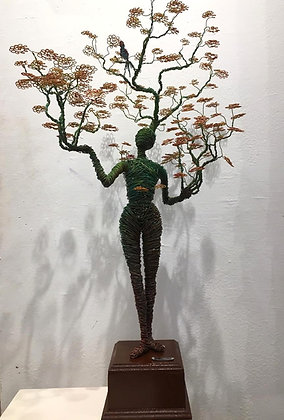 """Fertilidad"" Wire Sculpture - O. Rivera"