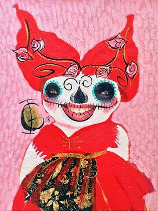 """Woman"" Collage, oil on canvas - I. González"