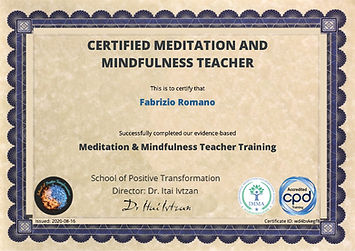 Meditation and Mindfulness Teacher Certificate