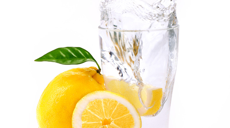 refreshing glass of water with splashed