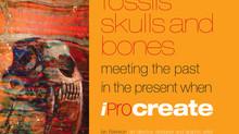"""Published, """"fossils skulls and bones""""."""