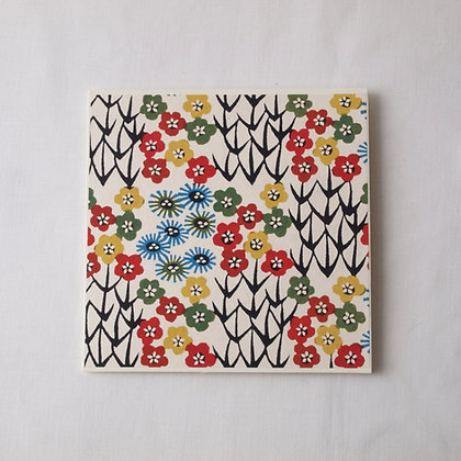 Katazome Greeting Card Blossom Field