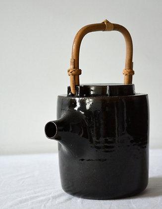 Bamboo handled Tea pot