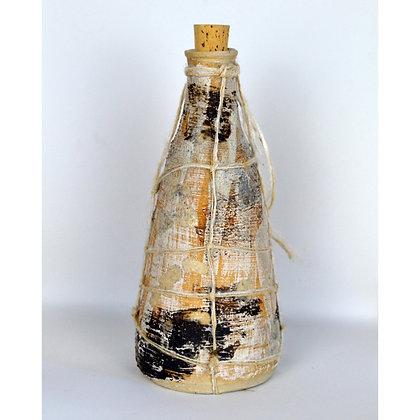 White Moss Ceramic Bottle