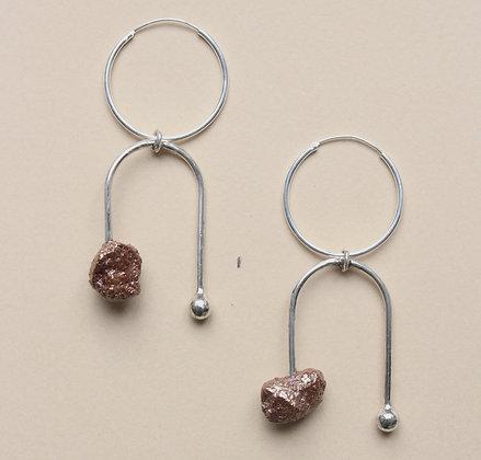Drop Ear Ring Silver