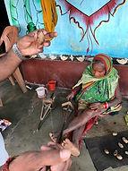 Foot/ leg spinning of Indian forest silk.jpeg