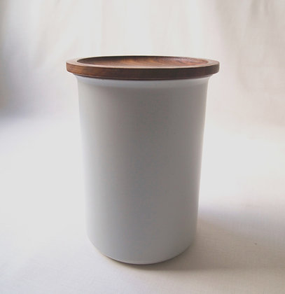 Ayasa Colour Jar & Wooden Lid