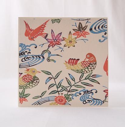 Katazome Greeting Card Birds