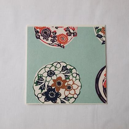 Katazome Greeting Card Flower