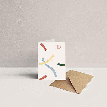 Mini Stripes Card