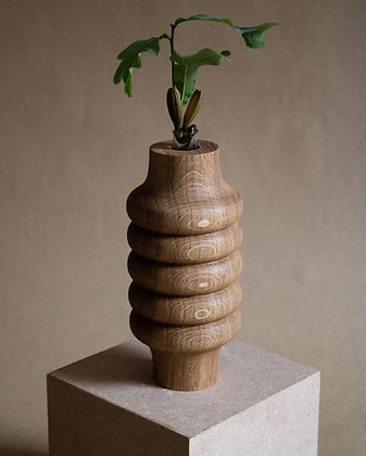 Tall Oak Vase