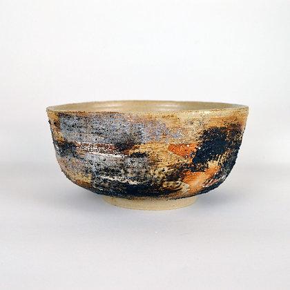 A large Bowl with Miyako Grey Glaze