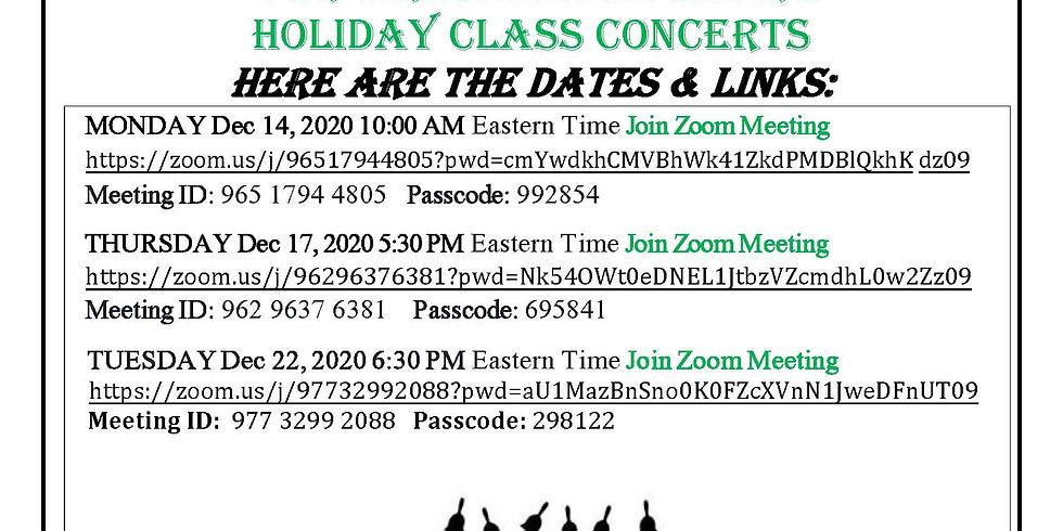 Holiday Concerts December, 2020