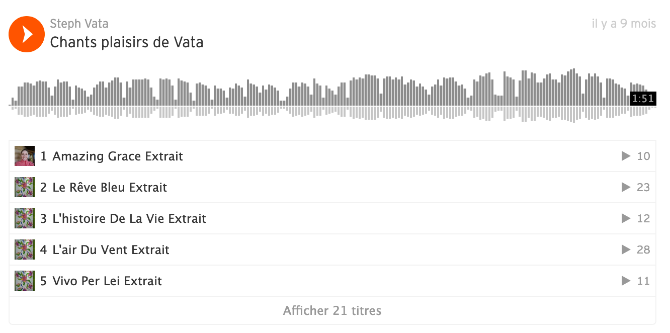 Soundcloud chants Vata