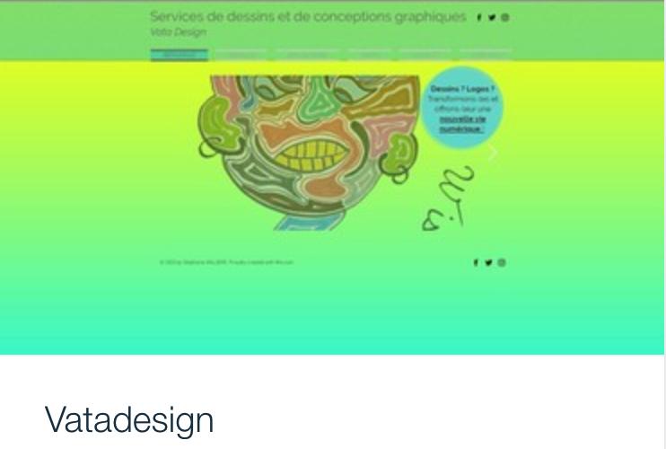Exemple site web services de dessins et design, Vata.png