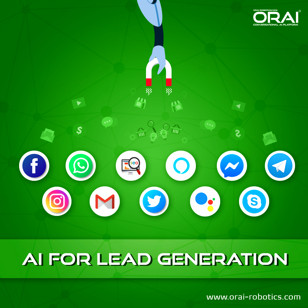 ORAI AI Chatbot for lead generation in various Platforms