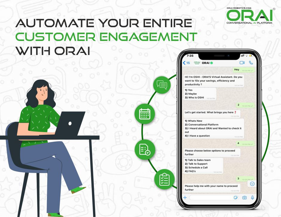 Automate entire Customer Engagement With ORAI over Whatsapp