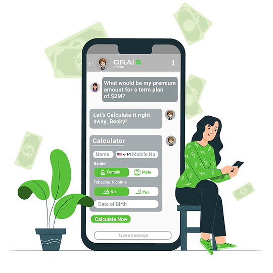 ORAI providing AI-powered WhatsApp Chatbot for Banking & Insurance for seamless Customer Experience