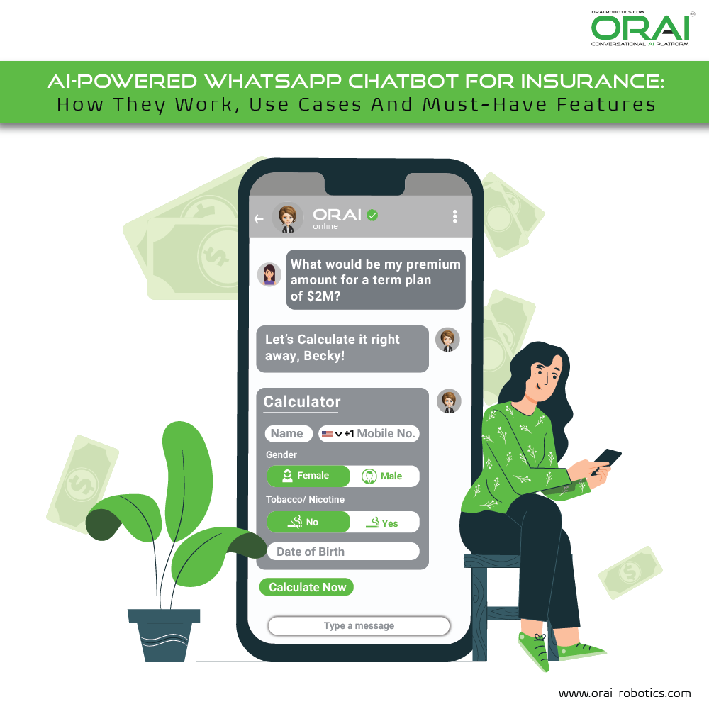 AI-Powered WhatsApp Chatbot For Insurance Use case by ORAI