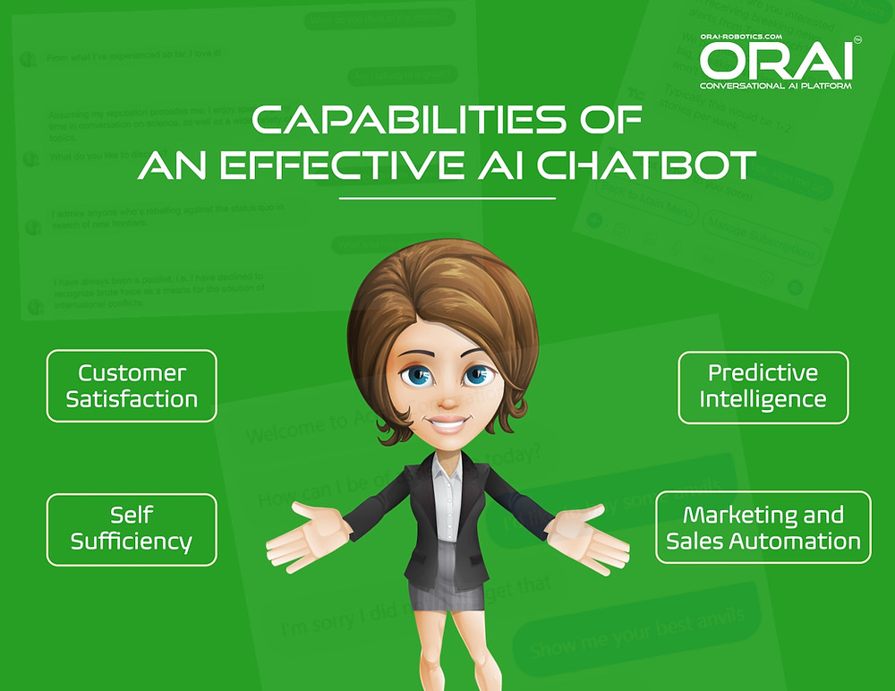 Capabilities of An Effective AI Chatbot which can help in sales automation and lead qualification.