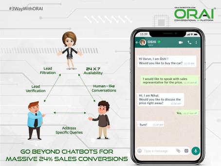 3-Way Conversations: Go Beyond Chatbots For Massive 24% Sales Conversions