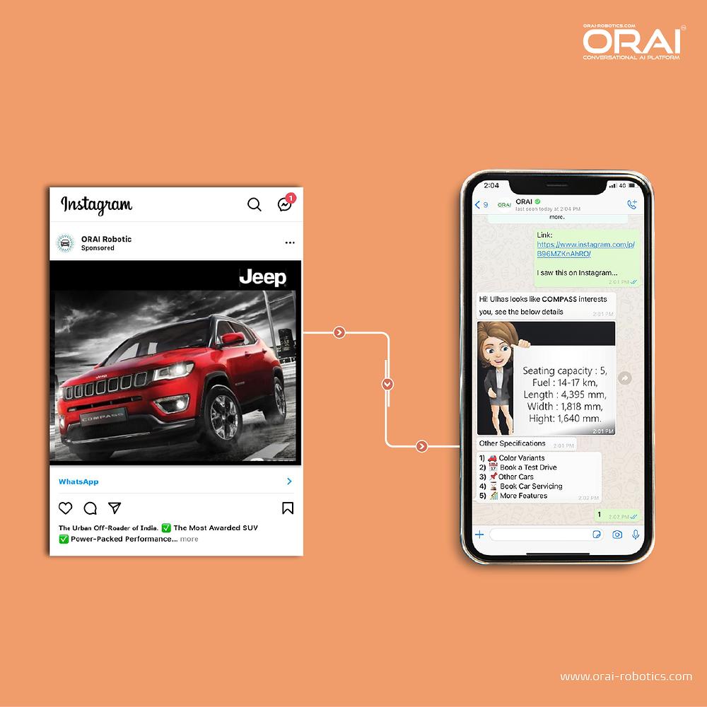 Conversational Ads on Instagram using AI Intelligence AI Chatbots