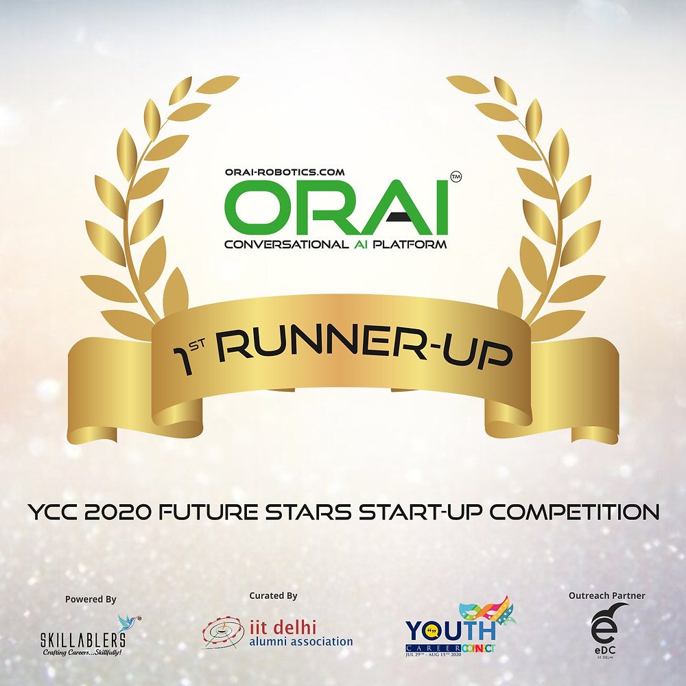 ORAI is 1st RUNNER-UP at YCC 2020 Future Stars Start-Up Competition