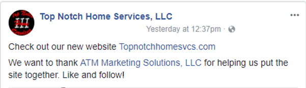 Thank you fromTop Notch Home Services