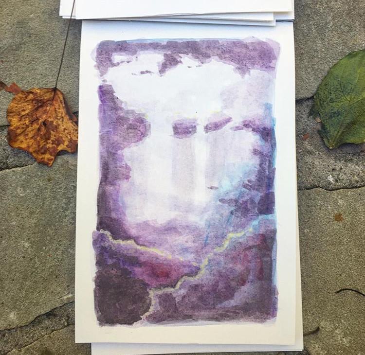 purple cloud waterfall