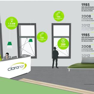Claranor - Proposition d'espace d'accueil