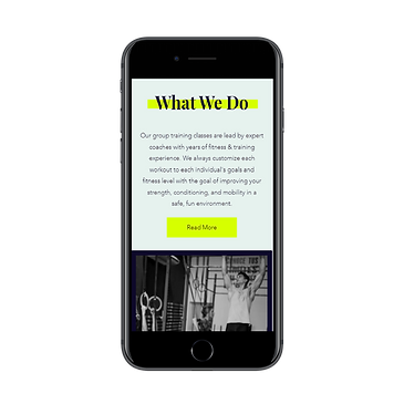 Mobile Ready CrossFit Web Design