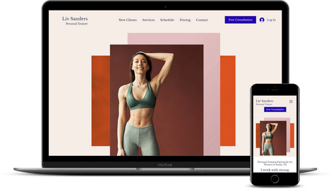 WIX Template for Personal Trainers