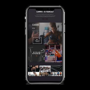 Website for Gym - Mobile Version