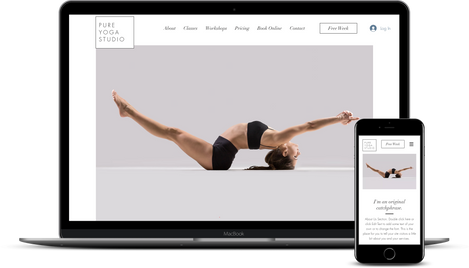 WIX Template for Yoga Studio